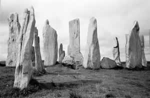 Within the standing stones of Callanish on the Isle of Lewis, northwest Scotland, the hidden form of the ancient Goddess and our neolithic Ancestors, can be seen